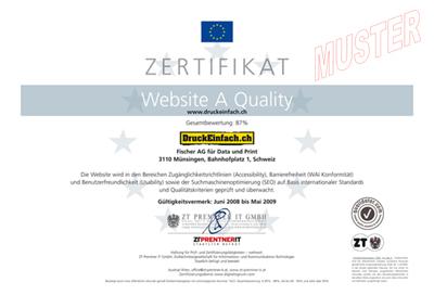 Musterzertifikat